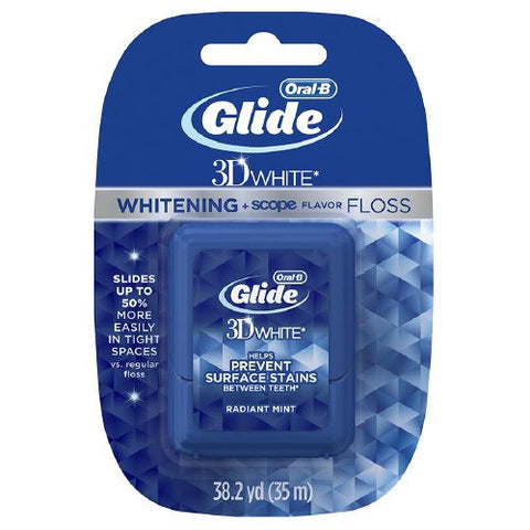 Oral-B Glide 3D White with Whitening + Scope Radiant Mint Flavor Floss 35 M - Crest Whitestrips United Kingdom