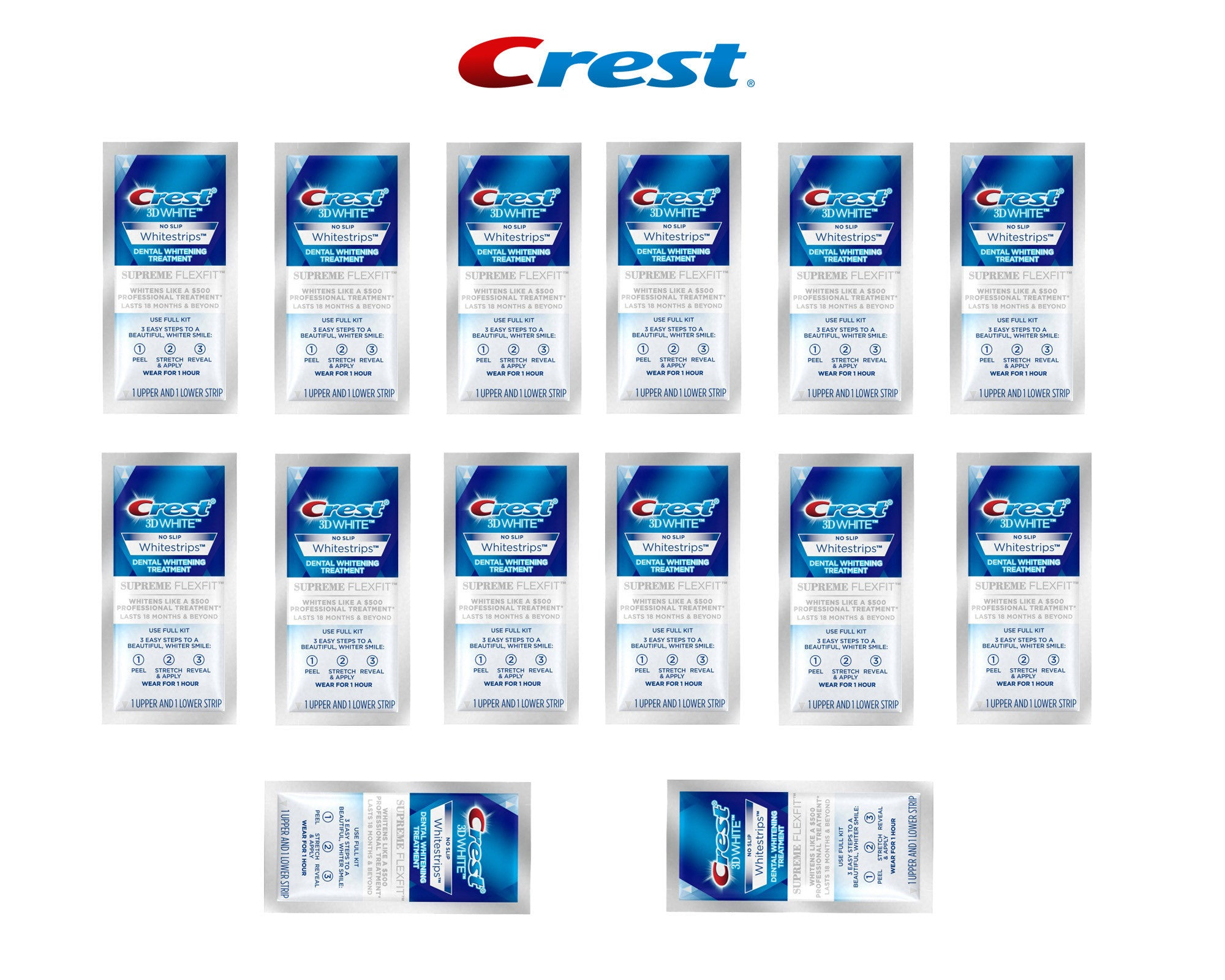 Crest 3d Whitestrips Supreme Flexfit Bright White Teeth Cali White