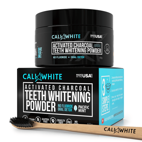Charcoal Teeth Whitening Powder + Bonus Charcoal Toothbrush