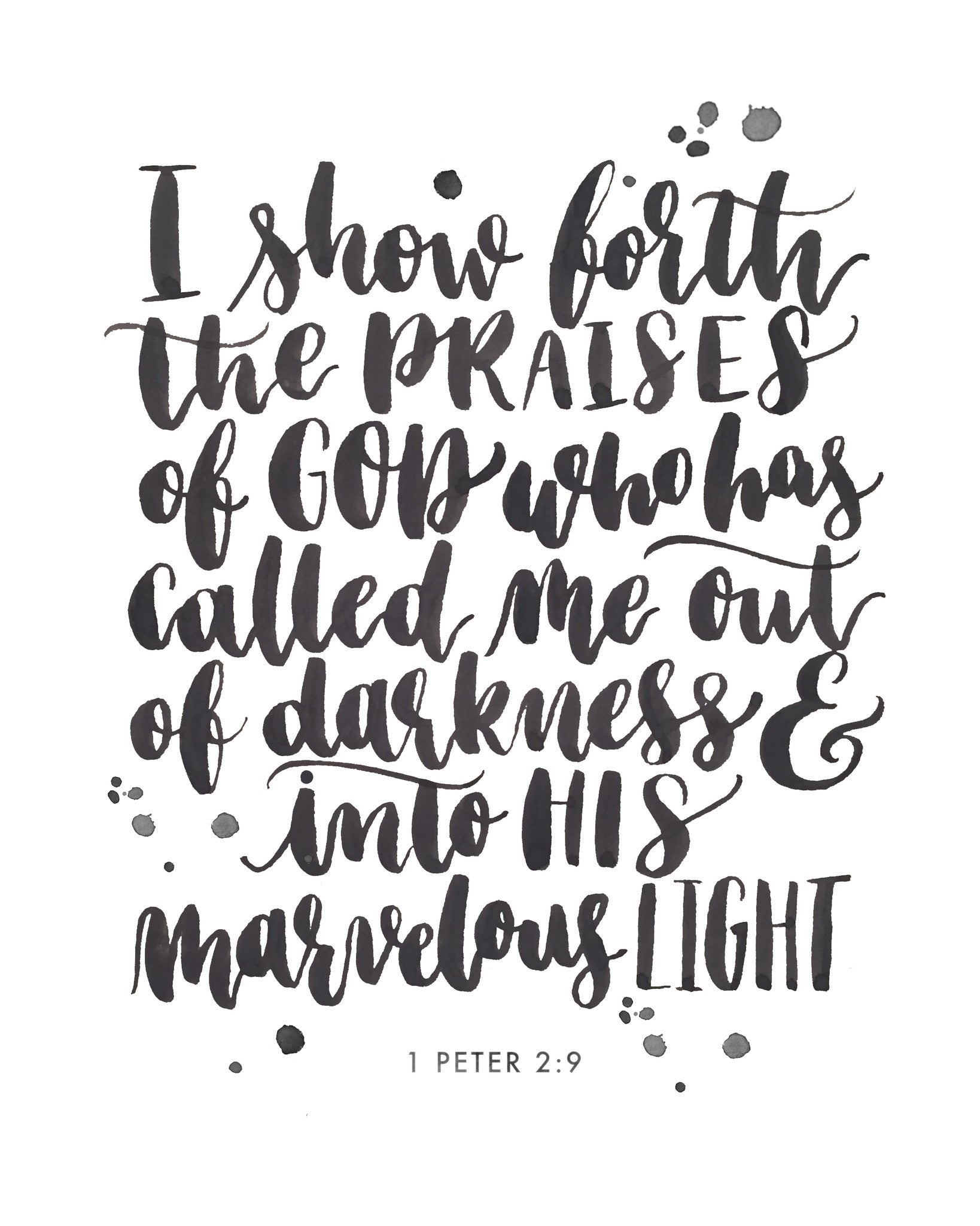 I am Called out of the Darkness | 1 Peter 2:9 | Day 18