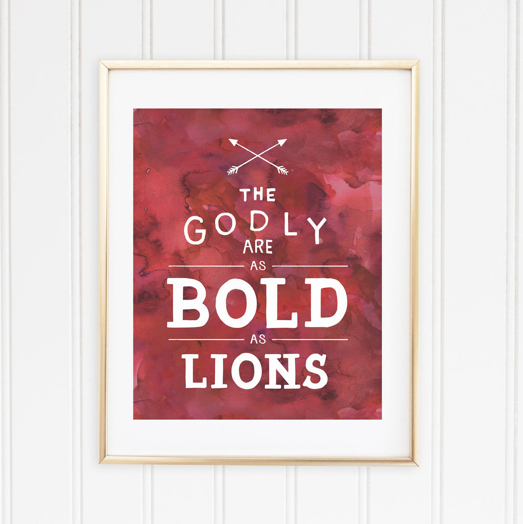 "Bold as a Lion | 8""x10"" Print"