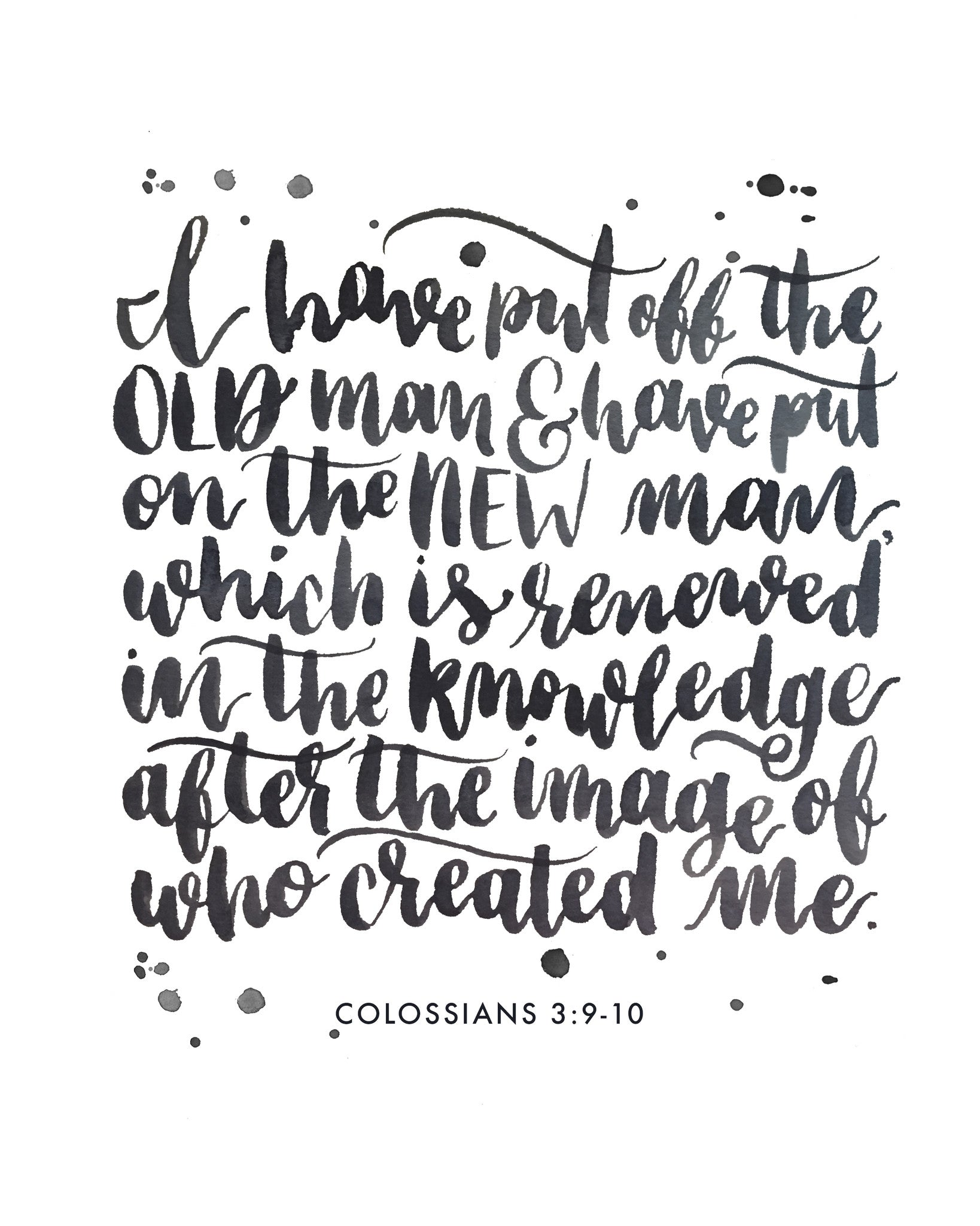 I am a New Creation | Colossians 3:9-10 | Day 13