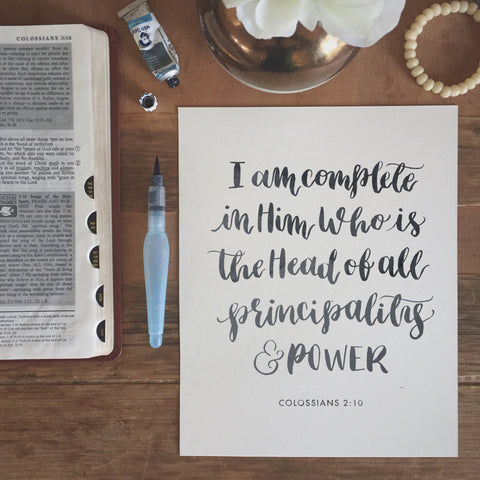I am Complete [Colossians 2:10]