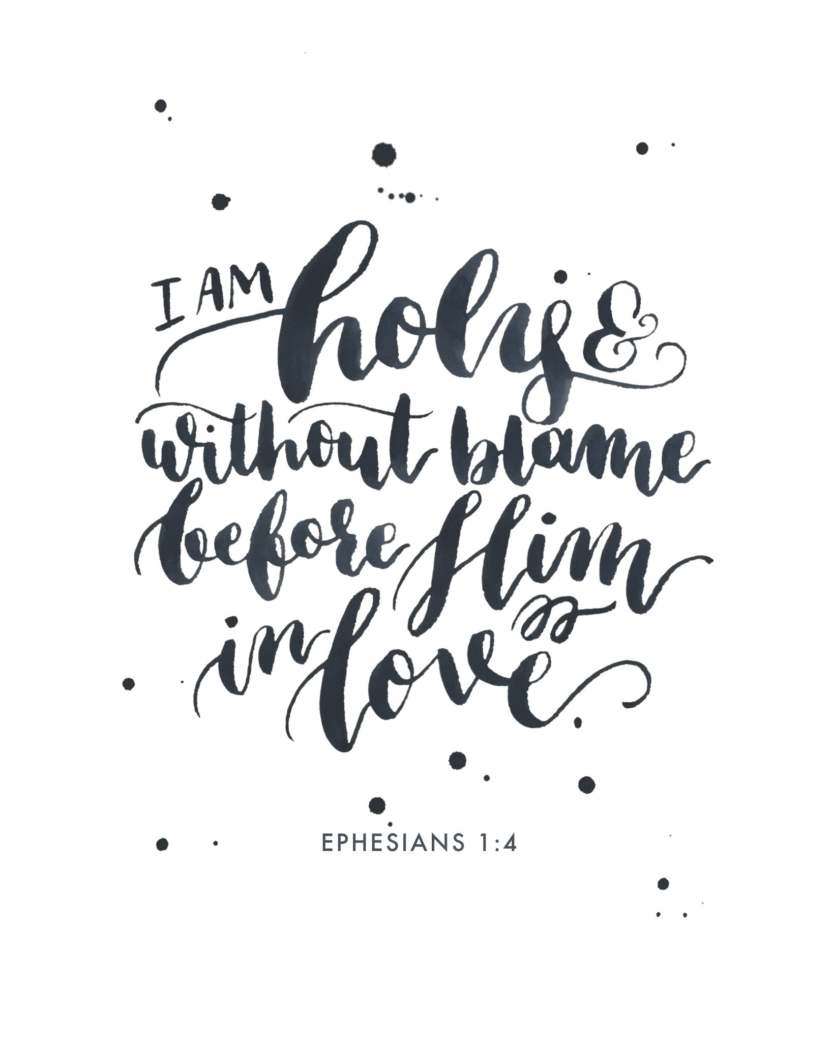 I am Holy | Ephesians 1:4