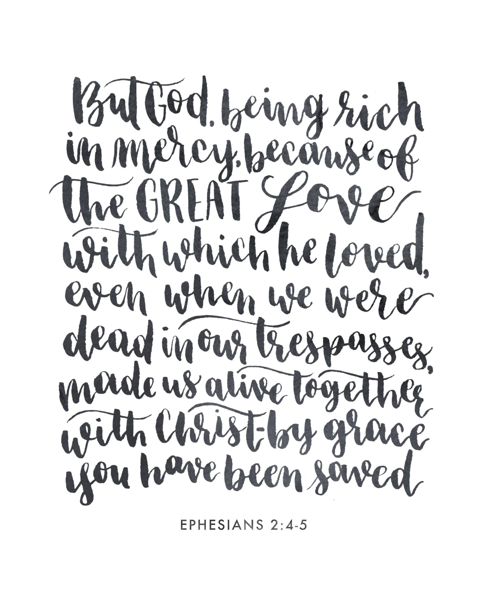 photograph relating to Who I Am in Christ Printable identified as I Am Alive within Christ Ephesians 2:4-5 Totally free Printable