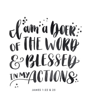 I am a Doer of the Word | James 1:22,25 | Day 24