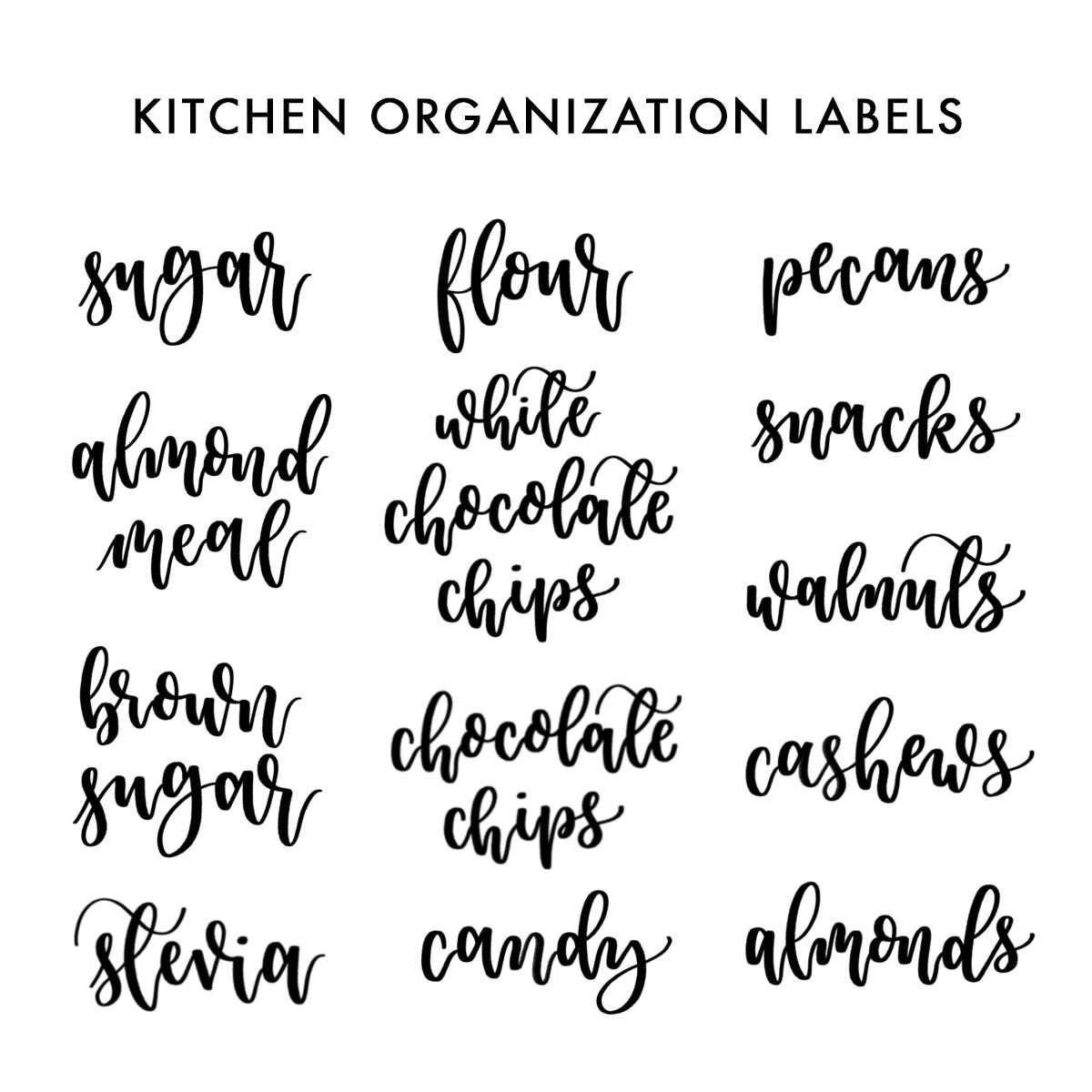 Vinyl Home Organization Labels