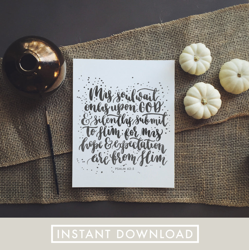 Surprise Gift | Psalm 62:5 | Download