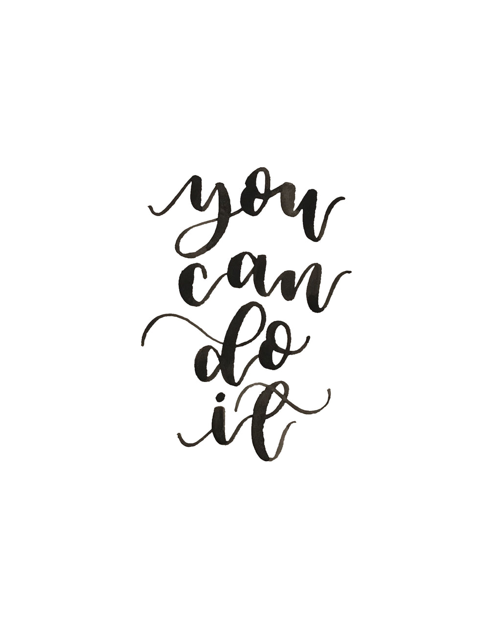 You Can Do It: Hand Lettered Initials, Names And Goodness