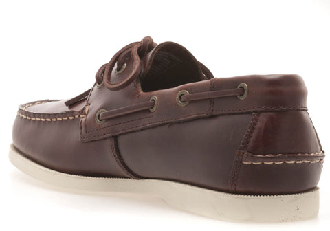 WHARF BRN SMOOTH LE MOC TOE BOAT SHOE