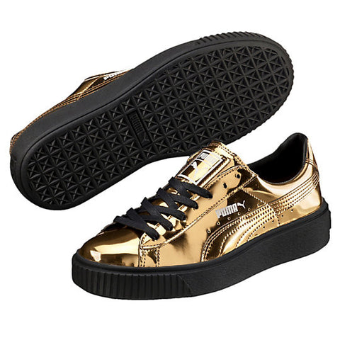 BASKET PLATFORM METALLIC GOLD