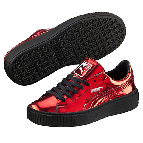 BASKET PLATFORM METALLIC HI RISK RED