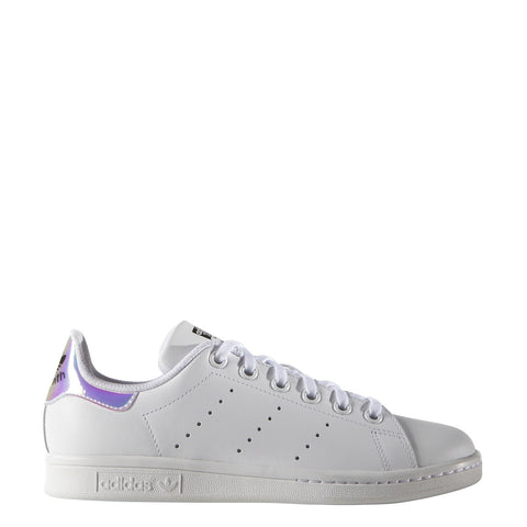 STAN SMITH METALLIC SLVR/ WHT/ WHT LO LACE UP