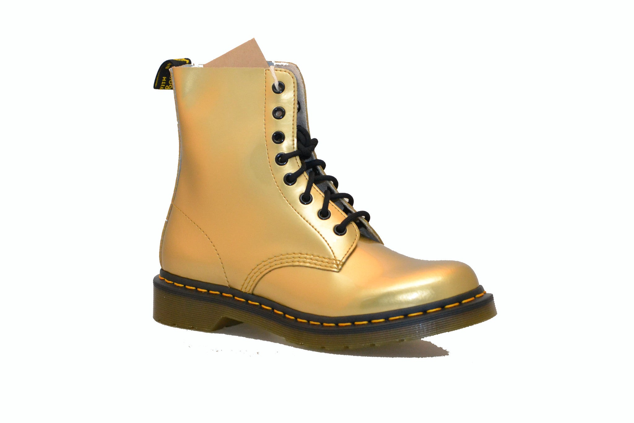DR. MARTENS 8-EYE GOLD SPECTRA BOOT