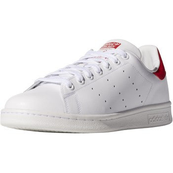STAN SMITH WHT/COLLEGIATED RED LE LACE UP
