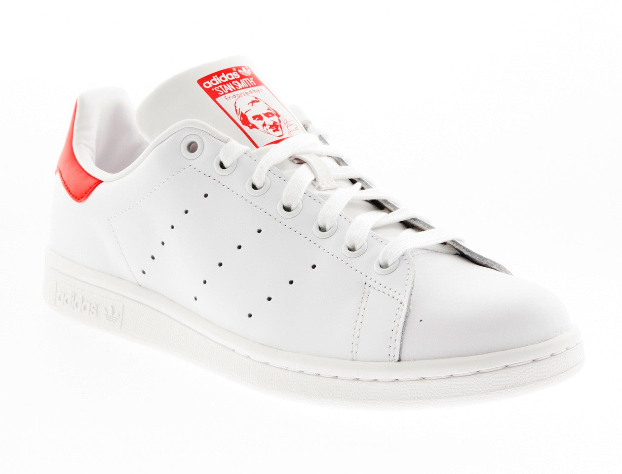 STAN SMITH RUNNING WHT/COLLEGIATED RED