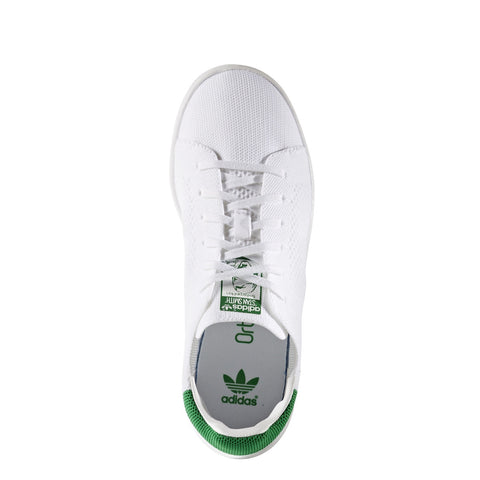 K STAN SMITH OG PK WHT/GRN LACE UP