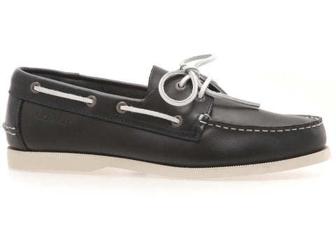 WHARF NAVY SMOOTH  LE MOC TOE BOAT SHOE