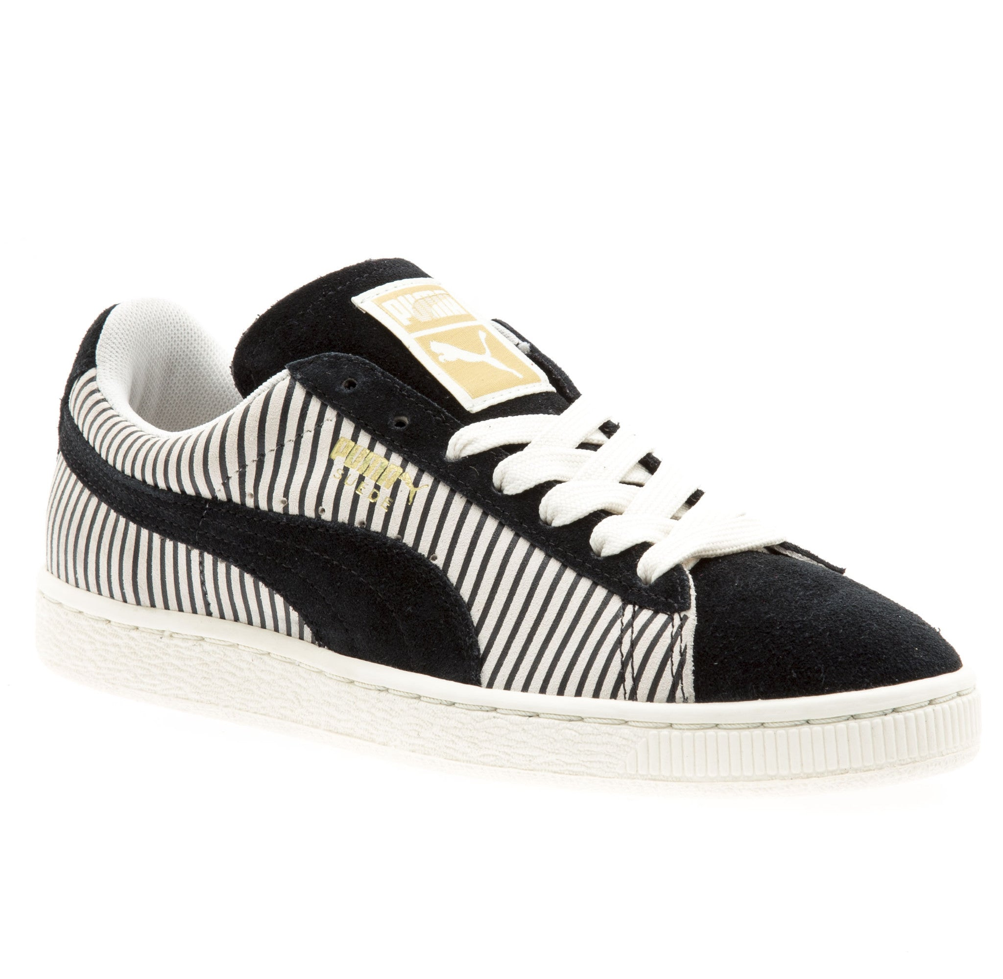 Womens Suede Classic Blocks and Stripes
