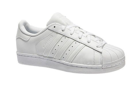 J SUPERSTAR WHT/ WHT LTHR LO LACE UP