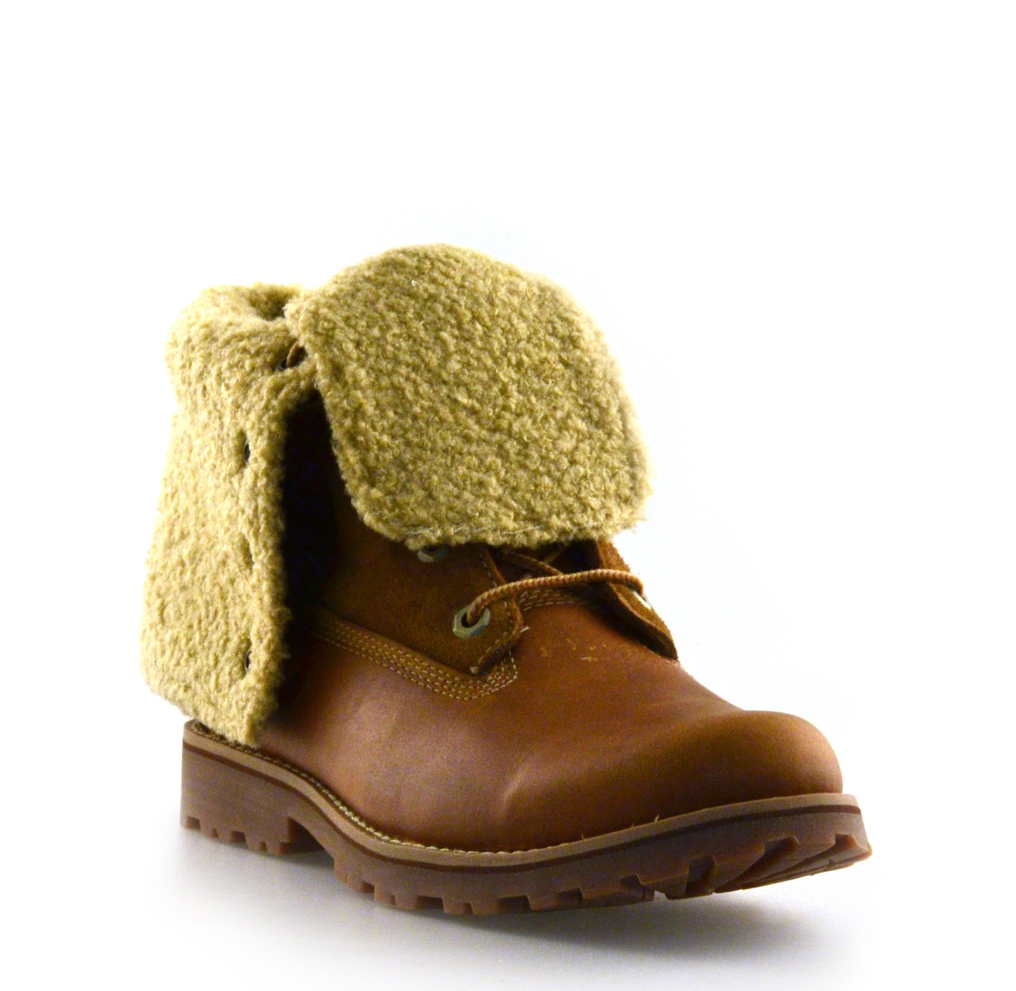 Kids 6in Roll Top Sherling Boot
