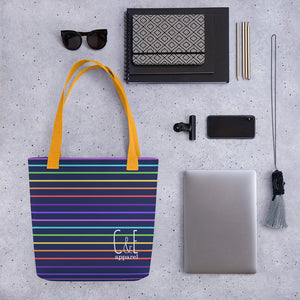 Striped Be Kind Tote bag