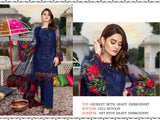 Blue Color Georgette Heavy Embroidered Designer Party Wear Pakistani Style Suit