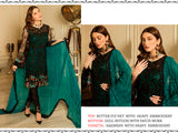 Butterfly Net Heavy Embroidered Designer Party Wear Pakistani Style Suit