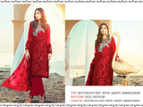 Red Color Butterfly Net Heavy Embroidered Designer Party Wear Pakistani Style Suit