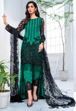 Black and Green Color Butterfly Net Heavy Embroidered Designer Party Wear Pakistani Style Suit