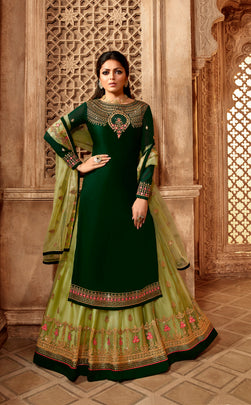 Gorgeous Party Wear Designer Satin Georgette Lehenga Style Suit 3901