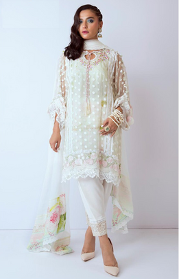 Rosemeen Pakistani Style Digital Print Designer Dress C1021
