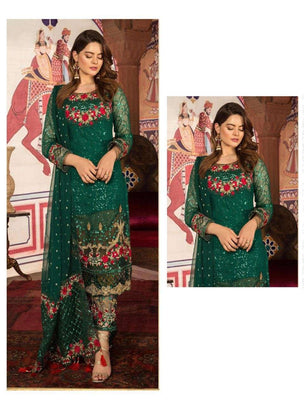 Pakistani Green Festive Hit Designer and Party Wear Collection 55001