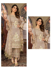 Light Brown Coloured Pakistani Style Designer Suit 55004C