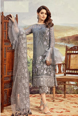 Grey Party Wear Ramzan Dress 34001