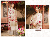 Amazing White Colored Partywear Embroidered Georgette Palazzo Suit 41004