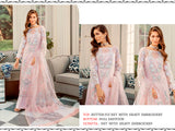 Pink Net Fabric Pakistani Suit Heavy Embroidery work Designer Wedding Wear