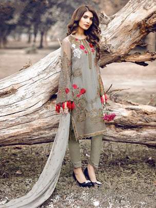 Rosemeen Festive Pakistani Designer Heavy Flower Embroidered Suits 3005