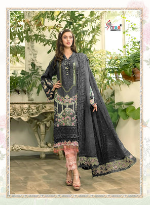 Black Mariya B Lawn Cotton Designer Pakistani Wear 1637B