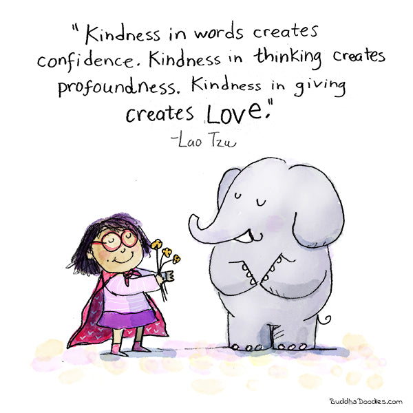 """Kindness in giving.""  Buddha Doodle"