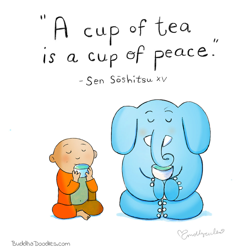 Today's Doodle: A Cup of Tea is a Cup of Peace