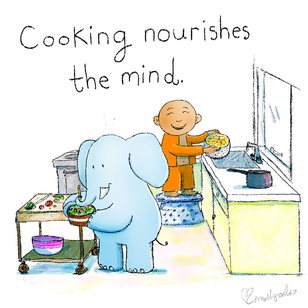 Today's Doodle: Cooking Nourishes the Mind