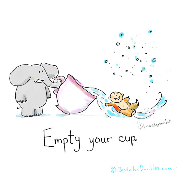 """Empty your cup"" Buddha Doodle"