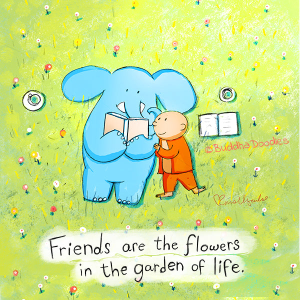 Today's Doodle: Friends are the flowers in the garden of life
