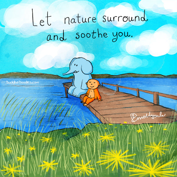Today's Doodle: Let nature surround and soothe you