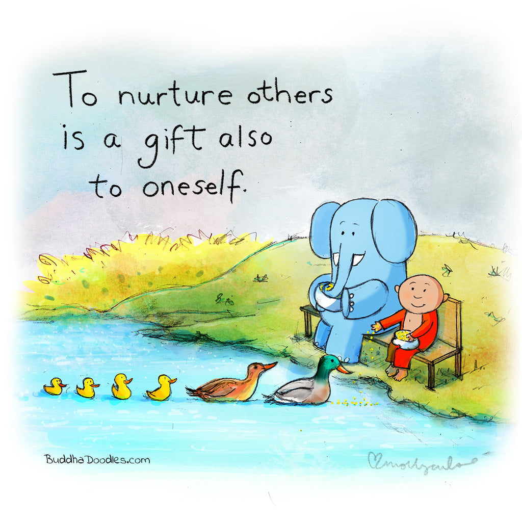 Today's Doodle: To nurture others is a gift also to oneself