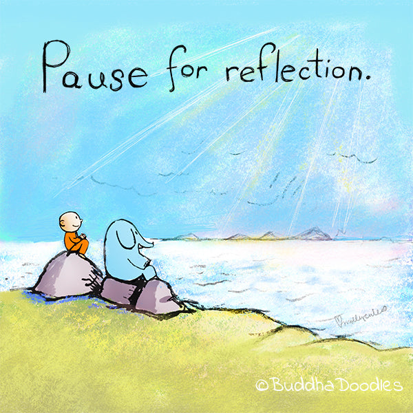 Today's Doodle: Pause for Reflection