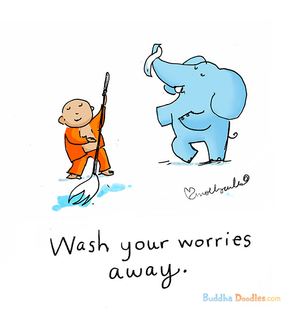 Today's Doodle: Wash Your Worries Away