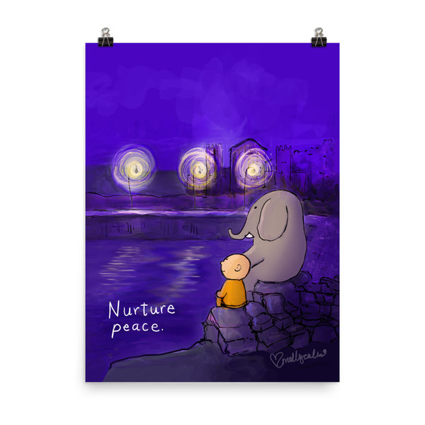 "Nurture Peace large wall sized art print (18"" x 24"")"