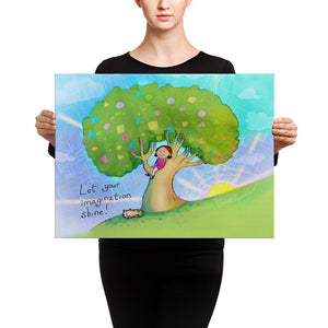 'Let Your Imagination Shine' Canvas wall print